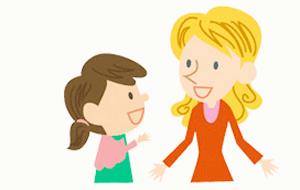 英会話を習う小学生