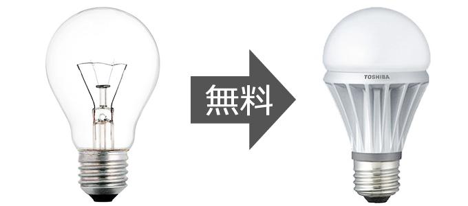 LED電球へ無料交換
