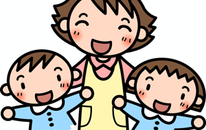 幼稚園児と先生