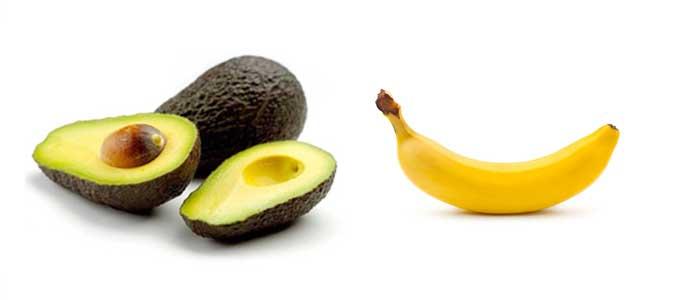 アボカドとバナナ