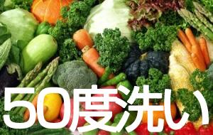 50度で洗われた野菜たち