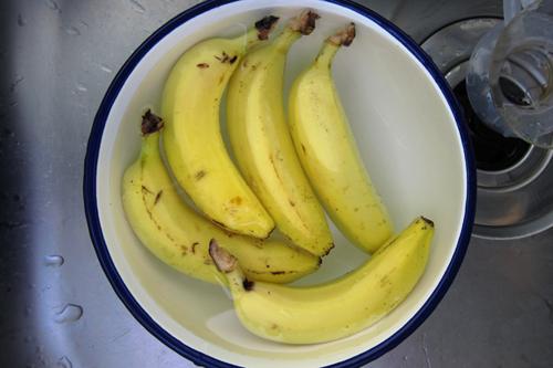 50度のお湯につけたバナナ