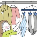 洗濯物を干す前に「パンパン」叩いて「フリフリ」するだけで柔軟剤効果