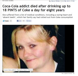 コーラが原因で亡くなったナターシャ