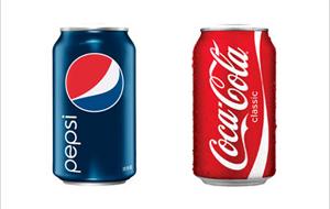 ペプシコーラとコカコーラ