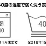 洗濯取扱い絵表示が変更。2016年12月より新たな表記
