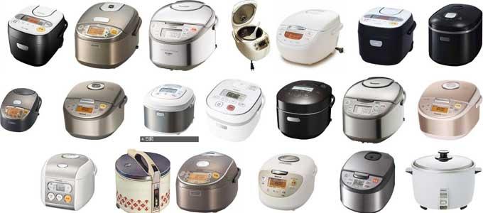 炊飯器の種類と性能のの違い